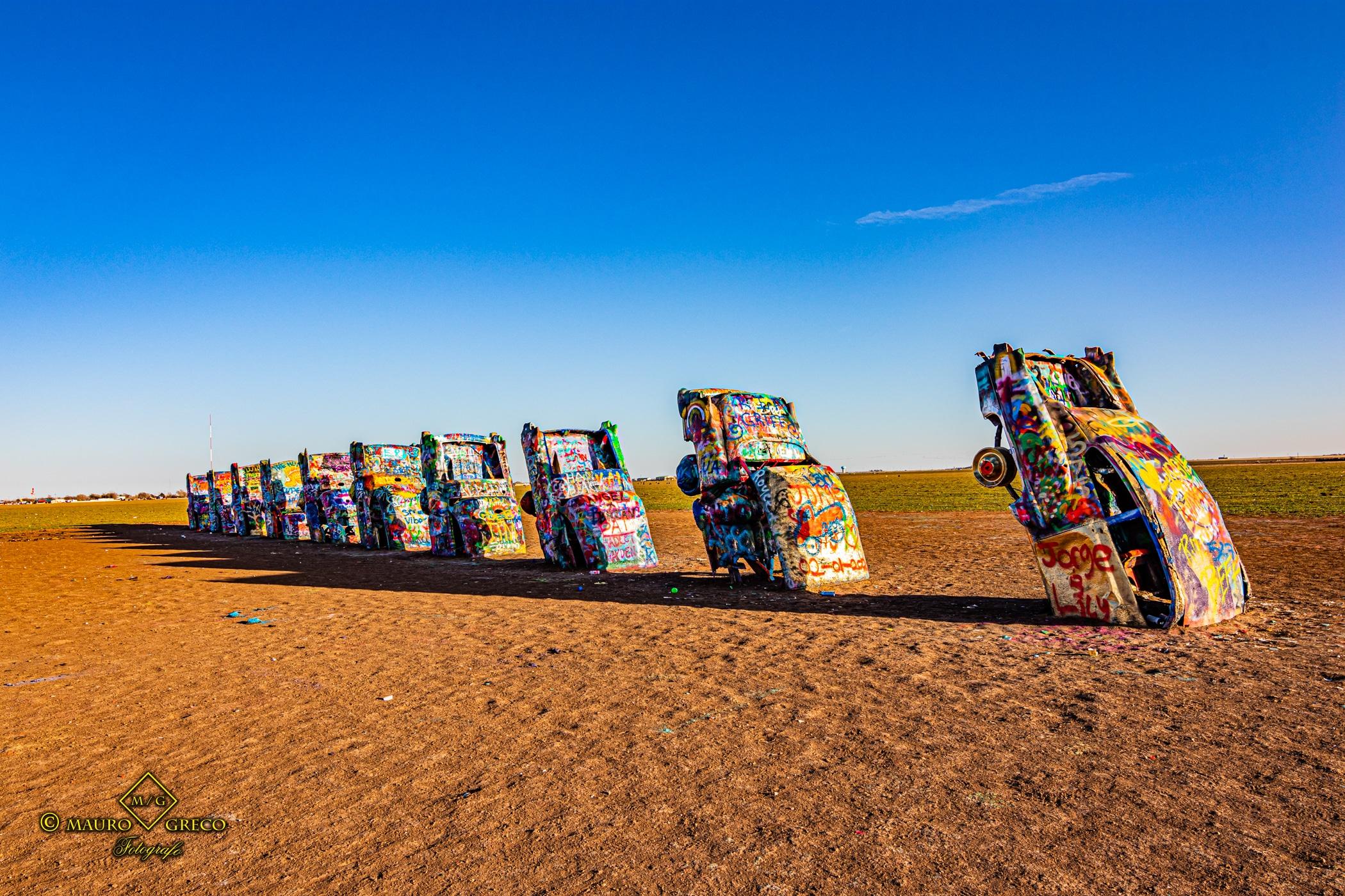 Cadillac Ranch Texas 2020 Tornado Moto Tour Viaggi organizzati in moto negli USA Monument Valley